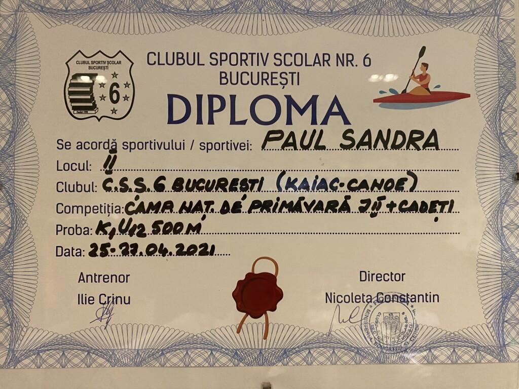 diploma css6 vicecamp nat K1 U12 500 m 2021