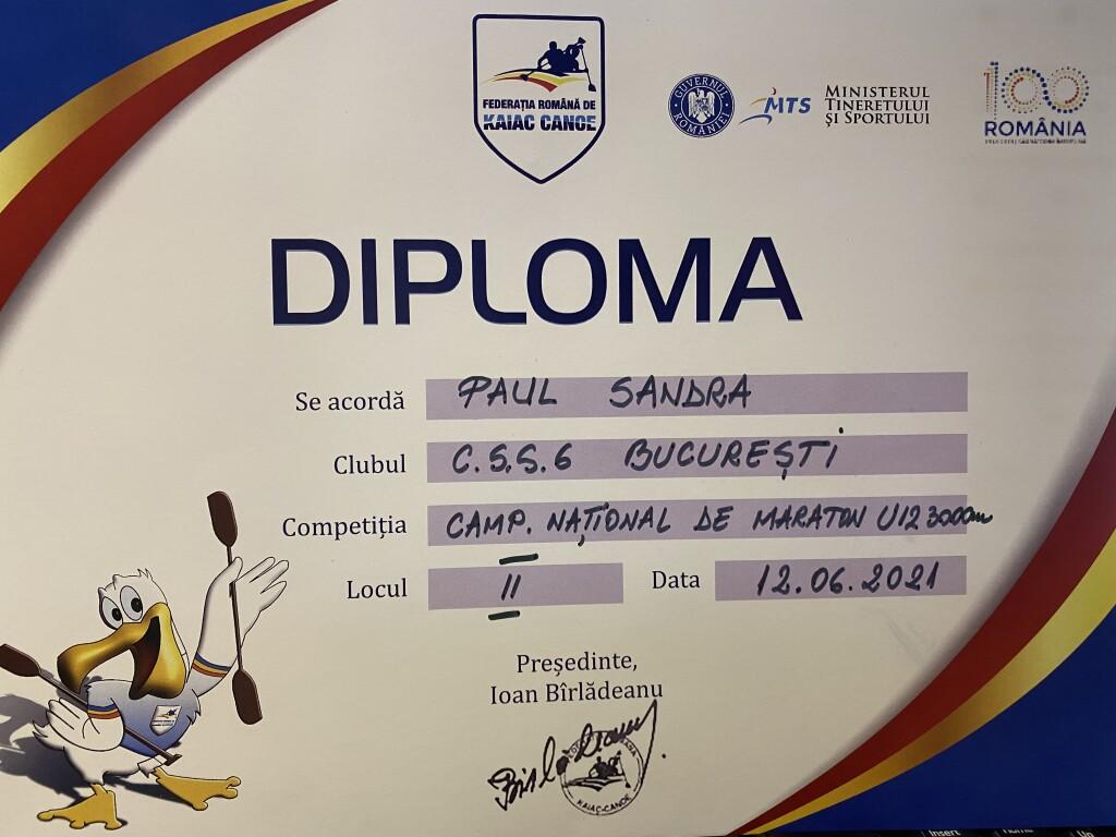 diploma loc II K1 U12 3000m