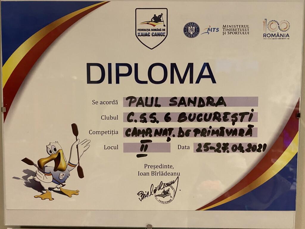 diploma vicecamp K1 U12 500 m